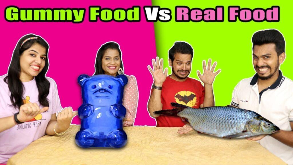 Gummy Food Vs Real Food Eating Challenge | Gummy Food Vs Real Food Eating Competition