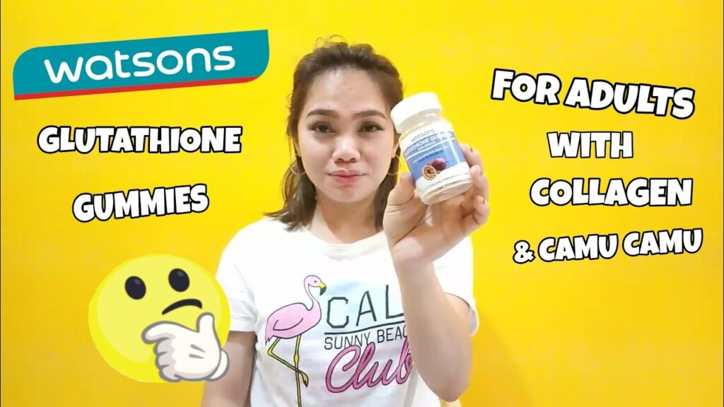 WATSONS GLUTATHIONE GUMMIES FOR ADULTS• WITH COLLAGEN & CAMU CAMU