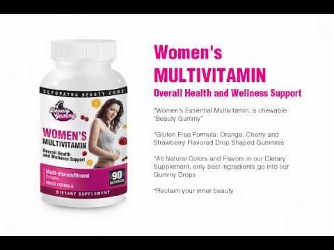 Women's Complete Multivitamin Gummies – Chewable Vitamin & Mineral Complex Gummy Drop Supplement